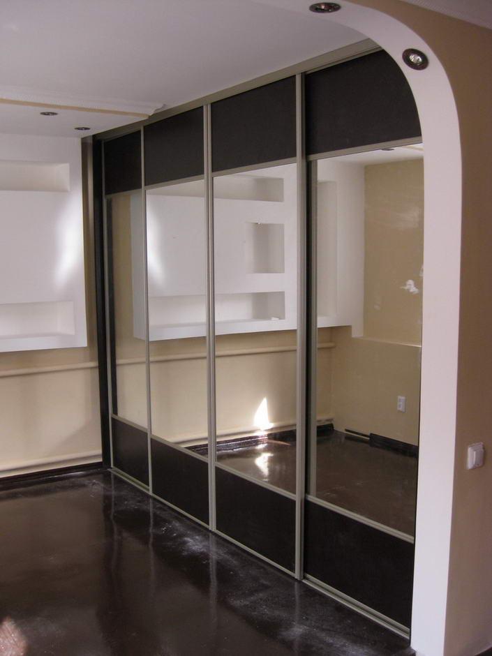 4 дверные шкафы купе фото