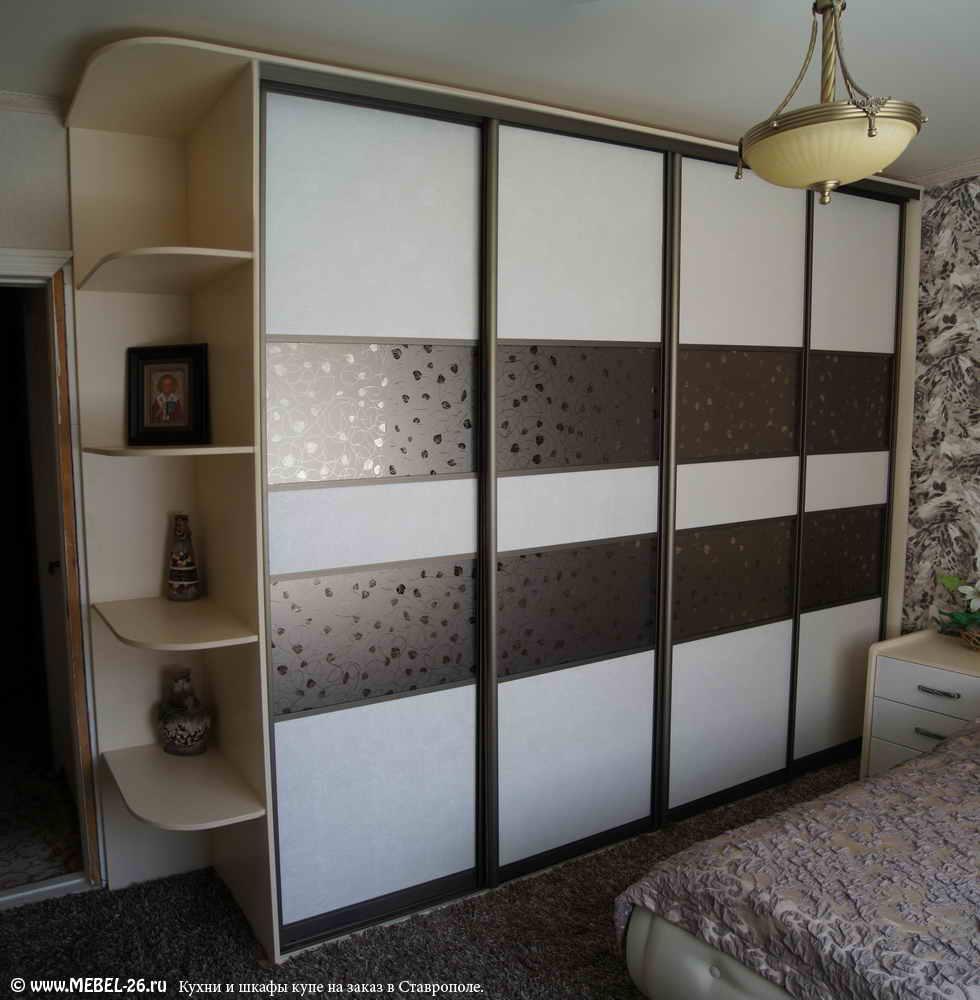 Шкафы купе с кожей фото